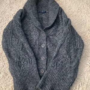 Cozy grey button up sweater